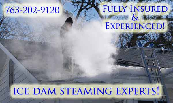 Removing Minneapolis MN Ice Dams With Steam
